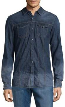 Buffalo David Bitton Long-Sleeve Casual Denim Shirt