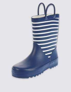Marks and Spencer Kids' Reflective Striped Welly Boots