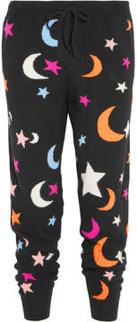 Chinti and Parker Midnight Sky Cashmere Track Pants - Black
