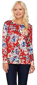 Isaac Mizrahi Live! China Floral PrintedCardigan