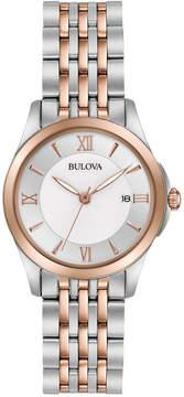 Bulova Women's Dress Two-Tone Stainless Steel Bracelet Watch 27mm 98M125