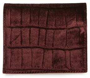 AllSaints Small Keel Croc Embossed Velvet Wallet