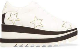 Stella McCartney Elyse Perforated Faux Leather Platform Brogues - White