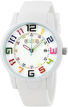 Crayo Festival White Dial White Silicone Unisex Watch