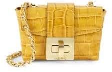 Mario Valentino Paulette Croc-Embossed Crossbody Bag