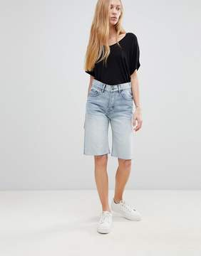 Cheap Monday Straight Cut Off Denim Shorts