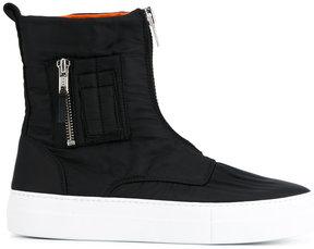 Joshua Sanders zip-up hi-top sneakers