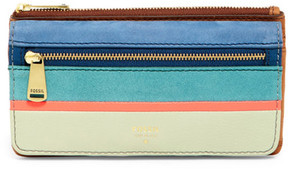 Fossil Preston Leather Flap Clutch