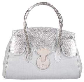 Ralph Lauren Lizard-Trimmed Ricky Bag