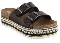 Mia Topaz Faux Leather Slides