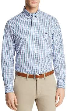 Brooks Brothers Pinpoint Plaid Long Sleeve Button-Down Shirt