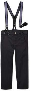 Petit Lem Pants with Suspenders (Toddler & Little Boys)
