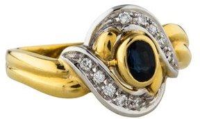 Damiani 18K Diamond & Sapphire Cocktail Ring