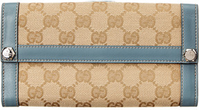 Gucci Beige Gg Supreme Canvas Continental Wallet - ONE COLOR - STYLE