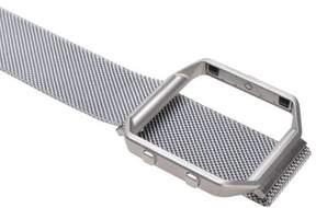 Fitbit AGPtek Watch Band Stainless Steel Bracelet Strap Metal Frame Holder for Blaze Silver