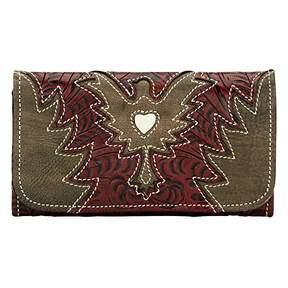 American West Eagle Heart Wallet