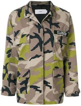 Closed camouflage shirt jacket