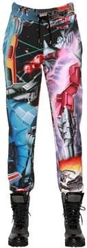 Moschino Transformer Printed Jersey Pants