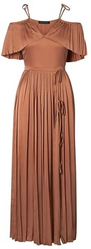 Banana Republic x Olivia Palermo | Pleated Off-the-Shoulder Maxi Dress