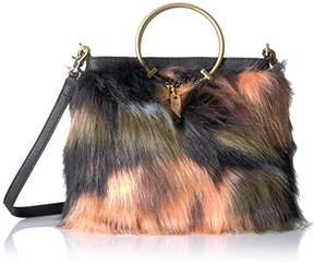 Foley + Corinna Faux Fur Ring Crossbody Foldover Tote