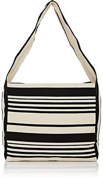 Barneys New York WOMEN'S STRIPED CANVAS HOBO BAG