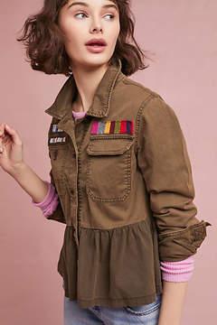 Anthropologie Peplum Military Jacket