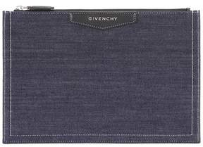 Givenchy Antigona denim and leather clutch