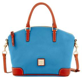 Dooney & Bourke Pebble Grain Charli Satchel - AZURE - STYLE