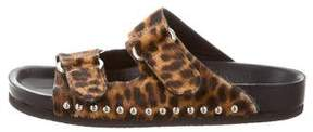 IRO Ponyhair Slide Sandals
