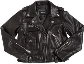 Diesel Nappa Leather Biker Jacket
