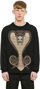 Cobra Jacquard Cotton Knit Sweater