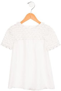 Chloé Girls' Scalloped Silk Dress w/ Tags