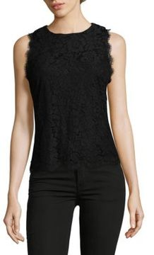 Saks Fifth Avenue BLACK Lace Sleeveless Blouse