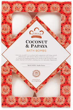 Nubian Heritage Coconut + Papaya Bath Bombs by 6pcs Bath Bomb)