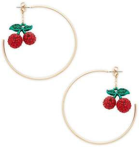 Natasha Women's Cherry Hoop Earrings