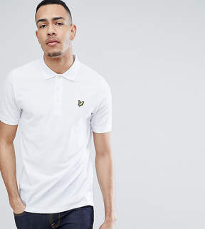 Lyle & Scott TALL Logo Pique Polo Shirt in White