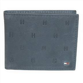 Tommy Hilfiger Men's Leather Vaughn Embossed Bifold Wallet