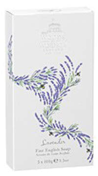 Lavender Fine English Soap (Box of 3) by Woods of Windsor (3.5ozea Bars)
