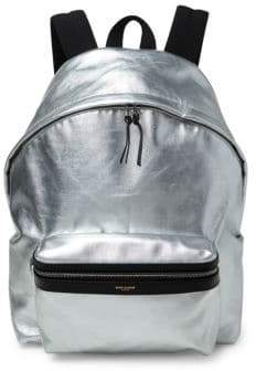 Saint Laurent Metallic Hunting Backpack