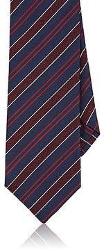 Isaia Men's Striped Silk-Wool Necktie