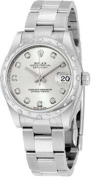 Rolex Oyster Perpetual Datejust 31 Silver Dial Stainless Steel Bracelet Automatic Ladies Watch