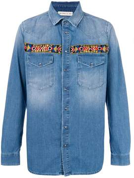 Etro embroidered denim shirt