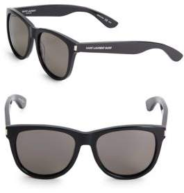 Saint Laurent Shiny, 17MM, Tinted Wayfarer Sunglasses