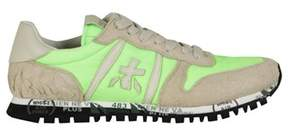 Premiata Men's Grey/green Fabric Sneakers.