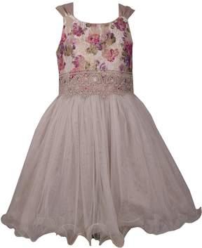 Bonnie Jean Girls 7-16 Sleeveless Floral Party Dress
