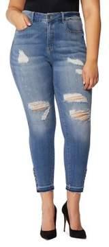 Wilson Rebel X Angels Plus The Vamp Crop High-Rise Ankle Skinny Jeans