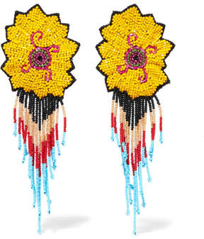 Etro Beaded Clip Earrings - Yellow
