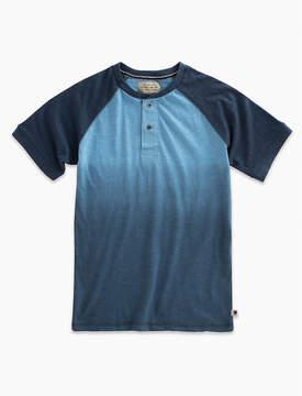 Lucky Brand Short Sleeve Dip Dye Henley
