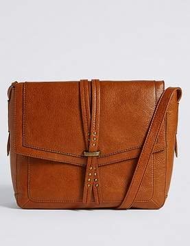 Marks and Spencer Leather Pin Stud Messenger Bag