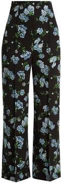 Emilia Wickstead Hullinie floral-print georgette trousers
